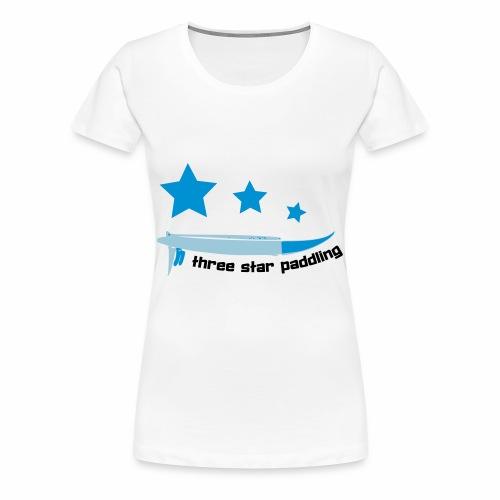 Drei Sterne paddeln Stand Up Paddle See Geschenk - Frauen Premium T-Shirt