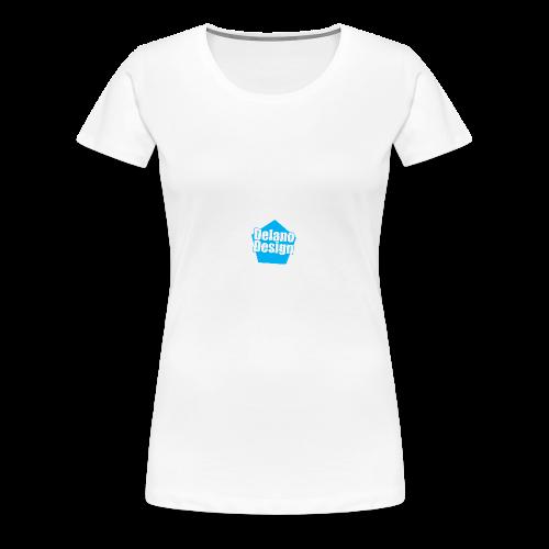 DelanoDesign - Logo Blauw - Vrouwen Premium T-shirt