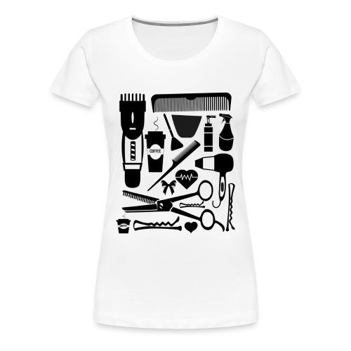 Friseur Frisör Hairstylist Haare Friseurmeister - Frauen Premium T-Shirt
