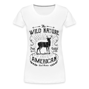 WILD NATURE - Jäger Hunter Hunting Wildnis Shirt - Frauen Premium T-Shirt