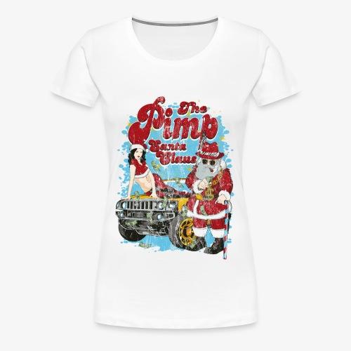 THE PIMP SANTA- Partie Weihnachtsmann Pin-Up Shirt - Frauen Premium T-Shirt