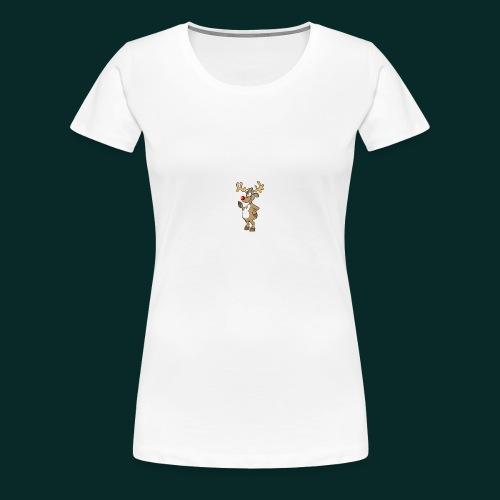 Baby-Lätzchen-Rentier-weihnachten - Frauen Premium T-Shirt