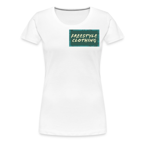 LIMITED EDITION 'Freestyle Clothing' Camo Logo - Women's Premium T-Shirt