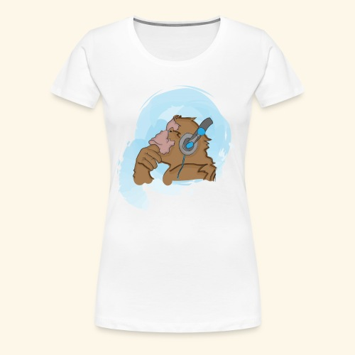 Singe musical - T-shirt Premium Femme