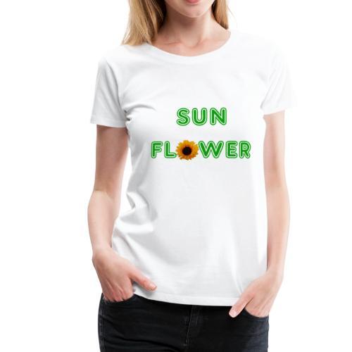 Sunflower Design - Frauen Premium T-Shirt
