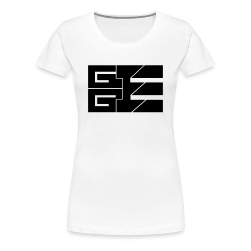 GGE Logo Schwarz - Frauen Premium T-Shirt