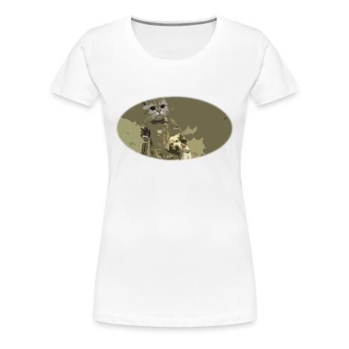 Cat hunting dogs - Premium T-skjorte for kvinner