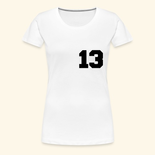 13 black - Frauen Premium T-Shirt
