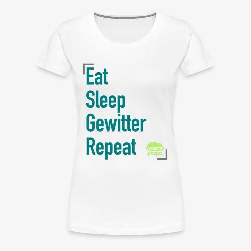 Tagesrhythmus - Frauen Premium T-Shirt