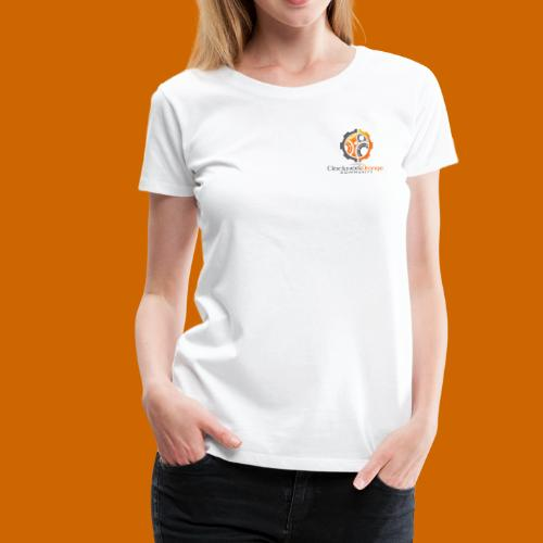 Clockwork-Orange Community Logo mit Schrift - Frauen Premium T-Shirt
