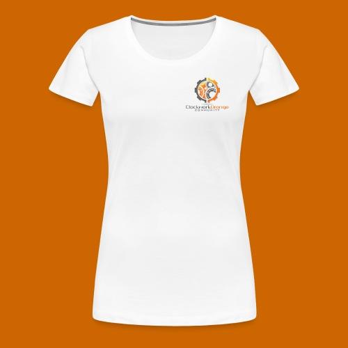 Clockwork-Orange Community Logo mit Schrift - Frauen Premium T-Shirt