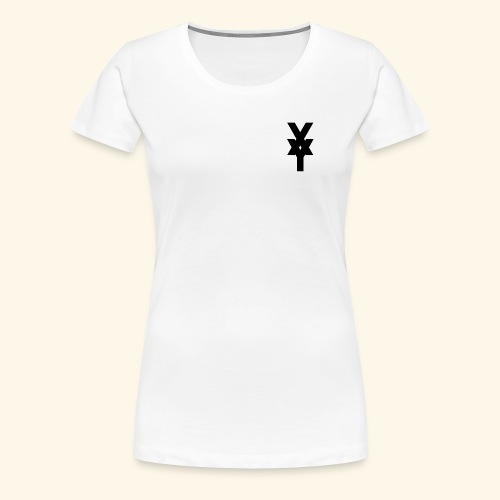 XY Logo In Black - Women's Premium T-Shirt