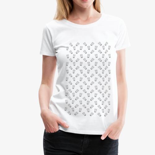Dubbeglas - Muster - Weinschorle - Wein - Pfalz - Frauen Premium T-Shirt