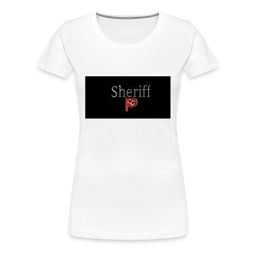 SheriffPB unisex hettegenser - Premium T-skjorte for kvinner