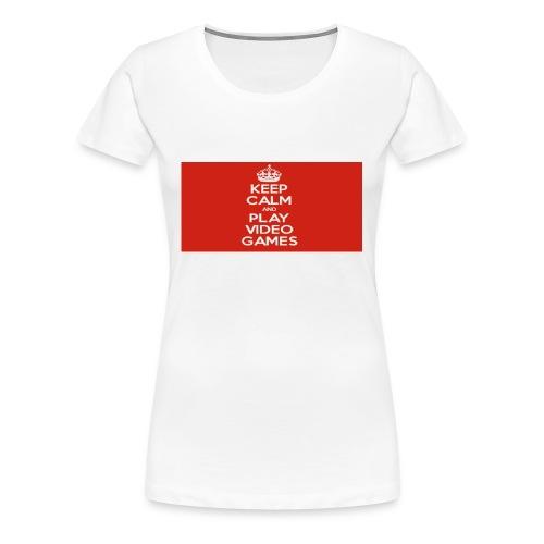 play does games - Premium T-skjorte for kvinner