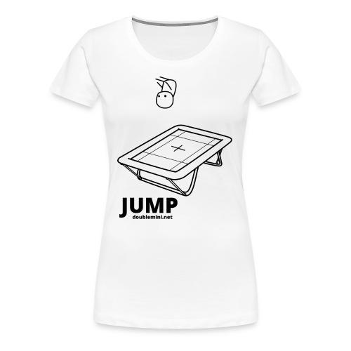 Trampoline JUMP shirt white - Women's Premium T-Shirt