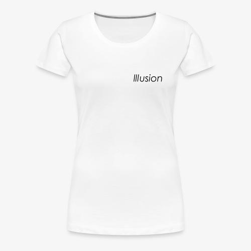 Illusion Basic Black - Frauen Premium T-Shirt