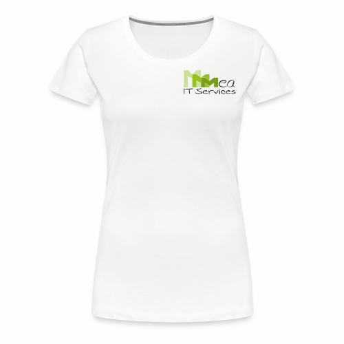 mea IT Services weiß - Frauen Premium T-Shirt