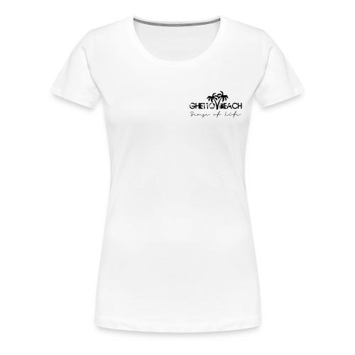Ghetto Beach Logo - Frauen Premium T-Shirt