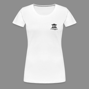 The Temple's White Classic - Women's Premium T-Shirt