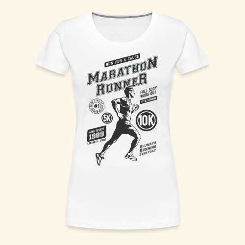 1989 MARATHON RUNNER Jogger Sport Geschenke Shirts - Frauen Premium T-Shirt