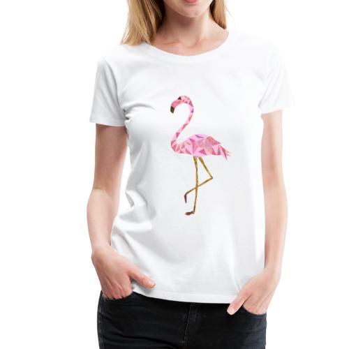 Flamingo triangel - Frauen Premium T-Shirt