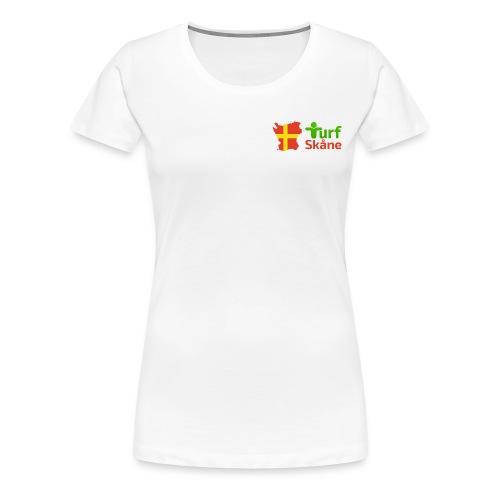 Turf Skåne Logo röd - Premium-T-shirt dam
