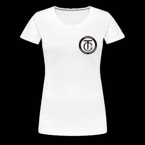 TCHR Logo Schwarz-Weiß - Frauen Premium T-Shirt