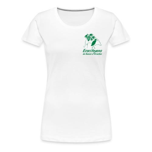 LOGO EBA POITRINE - T-shirt Premium Femme