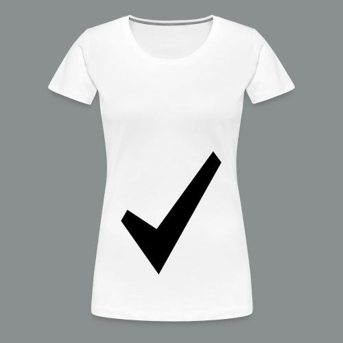 spunta nera - Maglietta Premium da donna