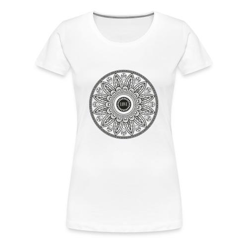 Mandala mit Schriftzug Love - Frauen Premium T-Shirt