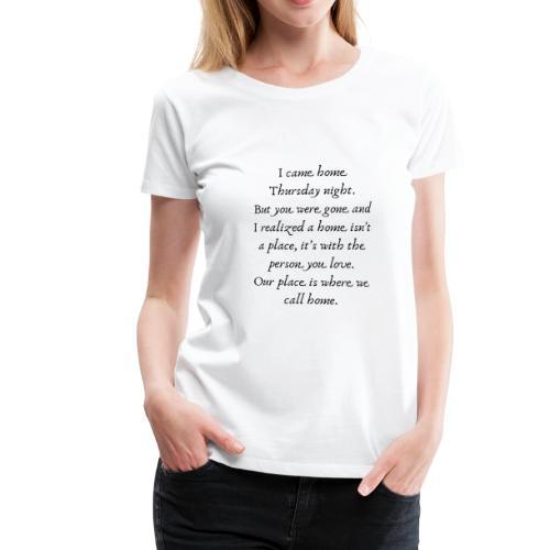 Thursday Night | By ClareMarie - Women's Premium T-Shirt