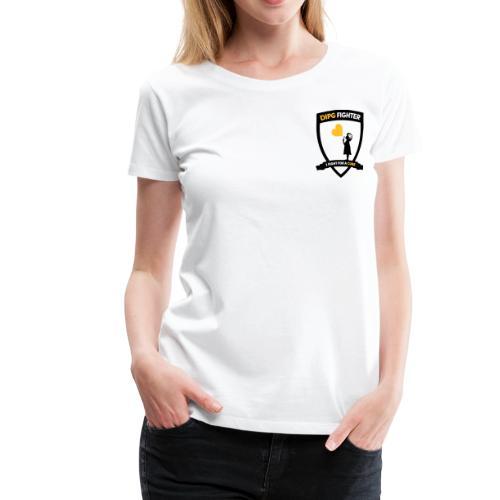 DIPG FIGHTER – Wappen (schwarz) - Frauen Premium T-Shirt