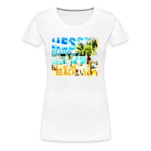 HESSEN at the BEACH - Frauen Premium T-Shirt