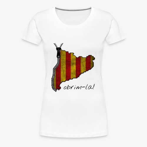 catalunyacremalleranegreg - Camiseta premium mujer