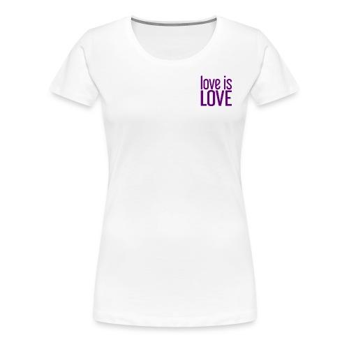 Love is Love Gay Pride paars - Vrouwen Premium T-shirt