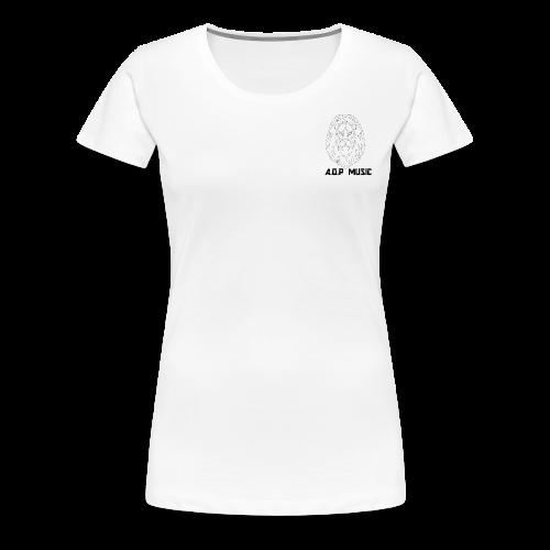 W/B Logo Lion {A.O.P MUSIC} - Women's Premium T-Shirt