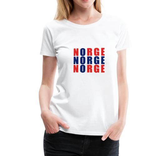 Norge Norwegen Norwegische Flagge - Frauen Premium T-Shirt