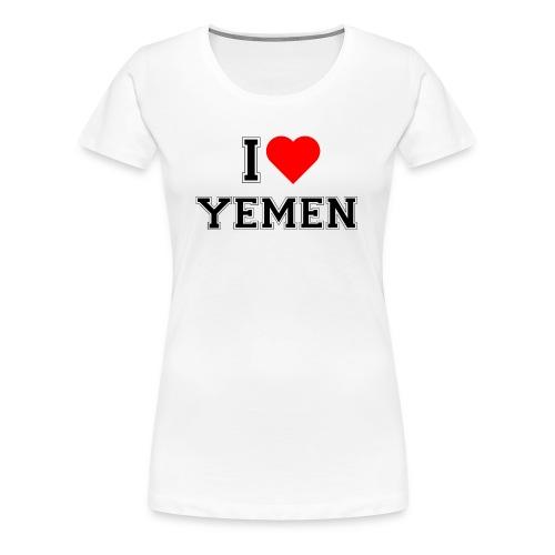 I love Yemen - Frauen Premium T-Shirt