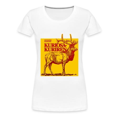 Stiliserad älg - Premium-T-shirt dam