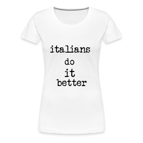 Italy - Maglietta Premium da donna