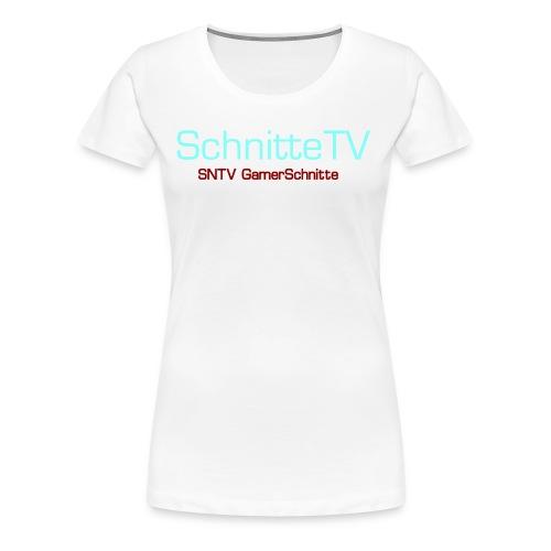 SchnitteTV SNTV GamerSchnitte - Frauen Premium T-Shirt