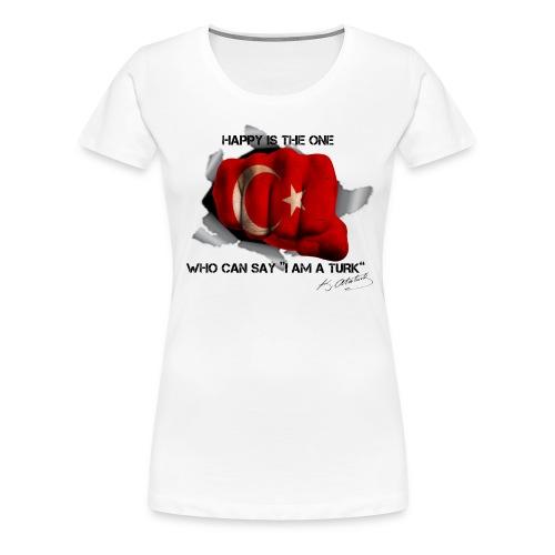 Ne mutlu Turkum diyene - Vrouwen Premium T-shirt
