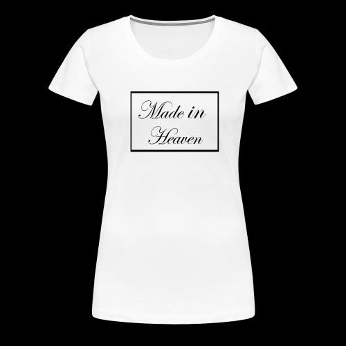 Made in Heaven Logo ,Black on white - Women's Premium T-Shirt
