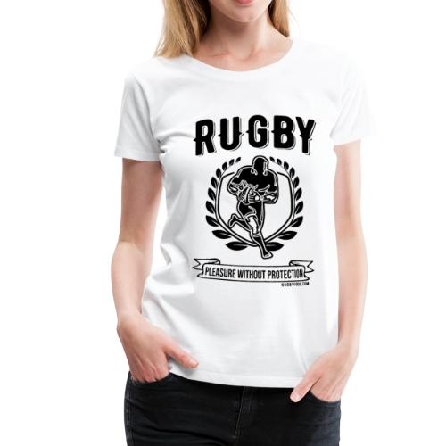Rugby Pleasure (Black) - Women's Premium T-Shirt