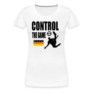 Control the game Deutschland zwart - Vrouwen Premium T-shirt