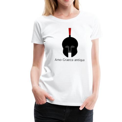 Casque d'un Hoplite Grec (Latin) - T-shirt Premium Femme