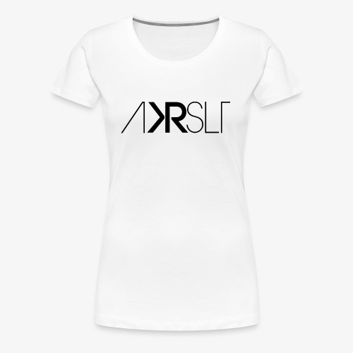 AKRSLT sign black - Frauen Premium T-Shirt