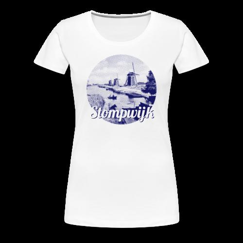 Stompwijk blauw - Vrouwen Premium T-shirt
