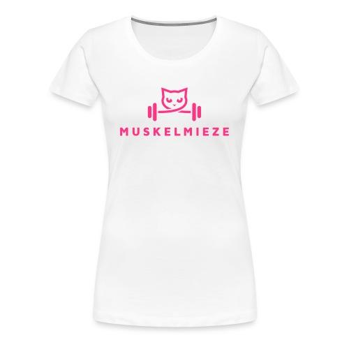 Muskelmieze Pink - Frauen Premium T-Shirt